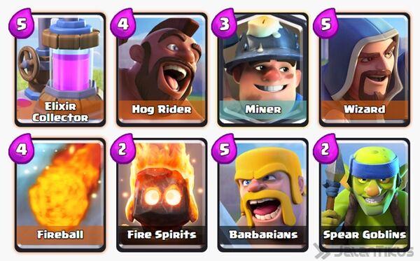 Battle Deck Miner Clash Royale 19