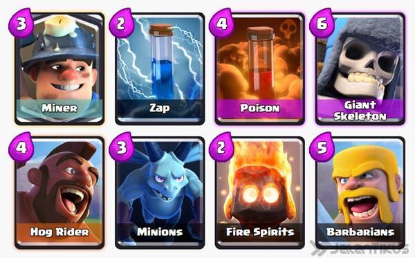 Battle Deck Miner Clash Royale 2