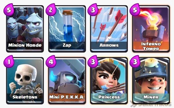 Battle Deck Miner Clash Royale 6
