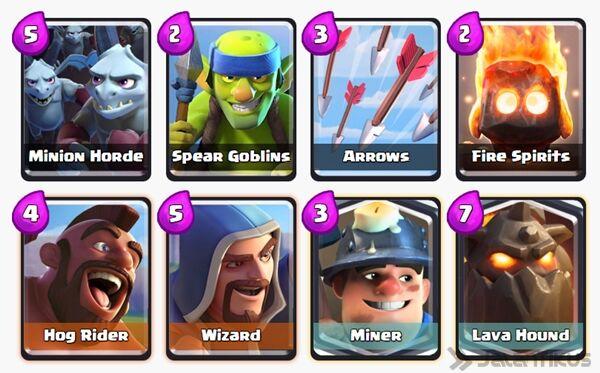 Battle Deck Miner Clash Royale 7