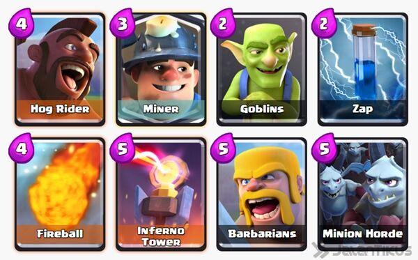 Battle Deck Miner Clash Royale 8