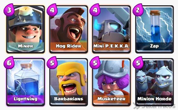 Battle Deck Miner Clash Royale 9