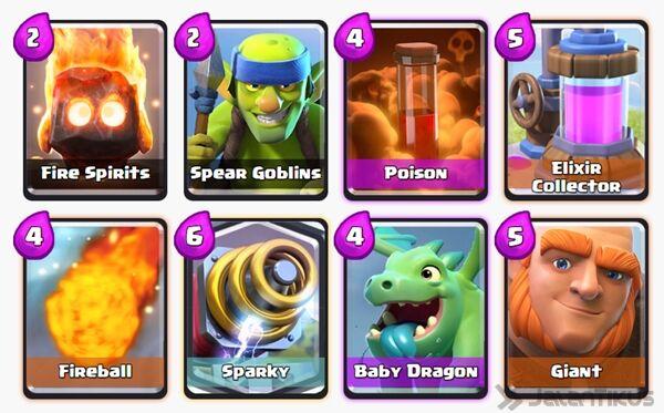 Battle Deck Sparky Clash Royale 15