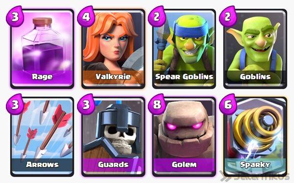 Battle Deck Sparky Clash Royale 2