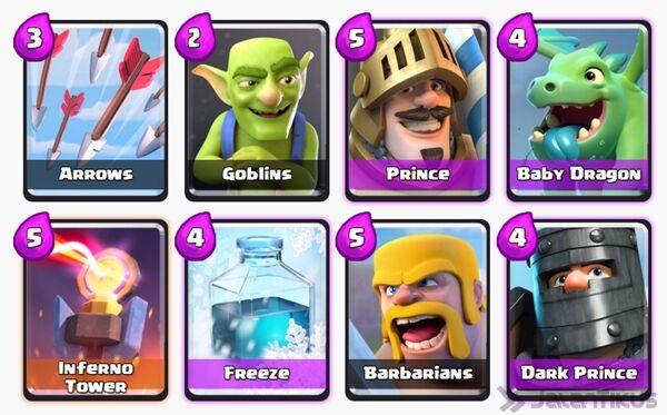 Battle Deck Dark Prince Clash Royale 25