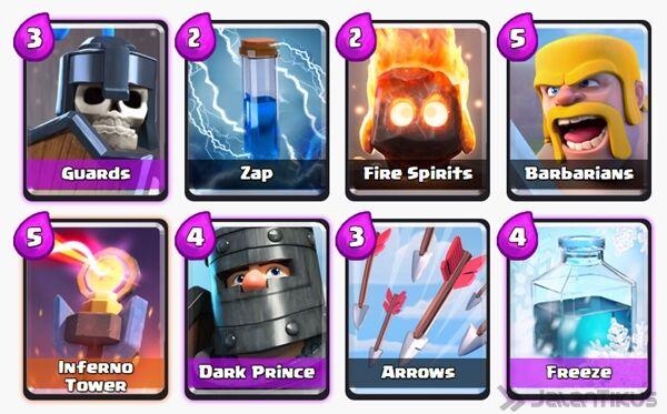 Battle Deck Dark Prince Clash Royale 27