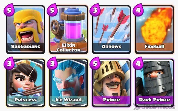 Battle Deck Dark Prince Clash Royale 7