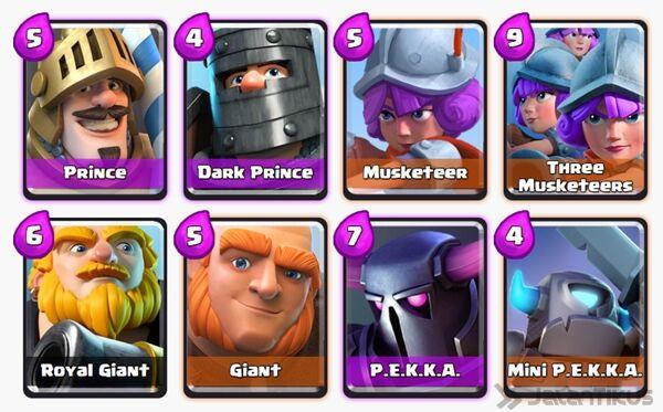 Battle Deck Dark Prince Clash Royale 8