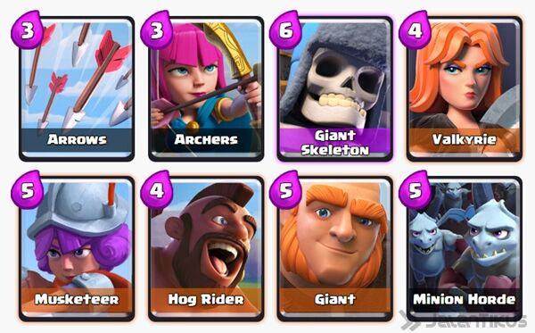 Battle Deck Giant Clash Royale 1