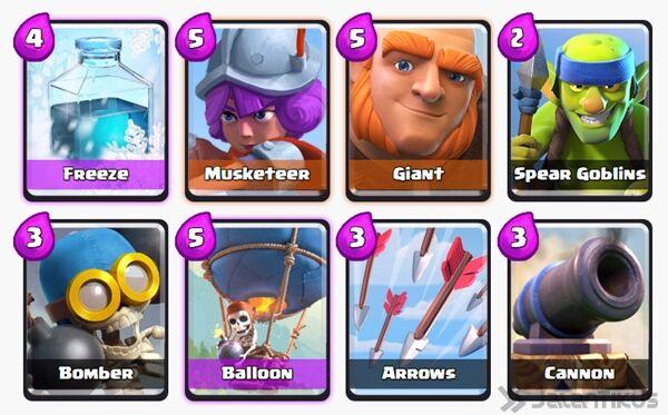 Battle Deck Giant Clash Royale 15