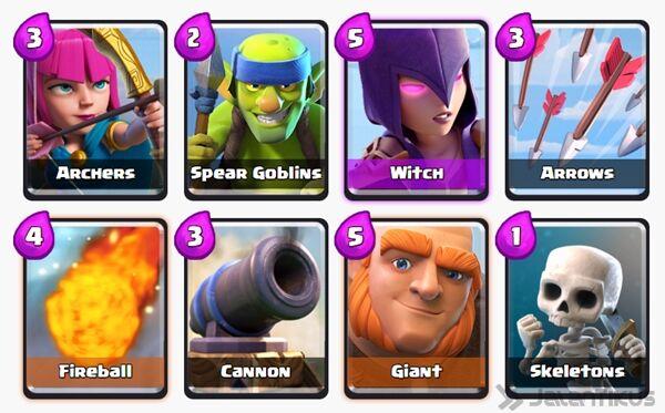 Battle Deck Giant Clash Royale 2