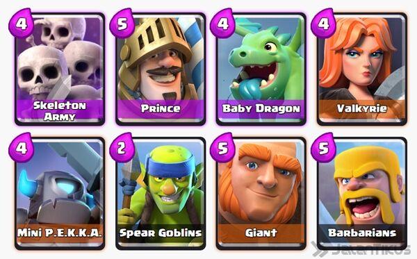 Battle Deck Giant Clash Royale 24