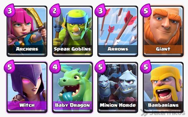 Battle Deck Giant Clash Royale 25