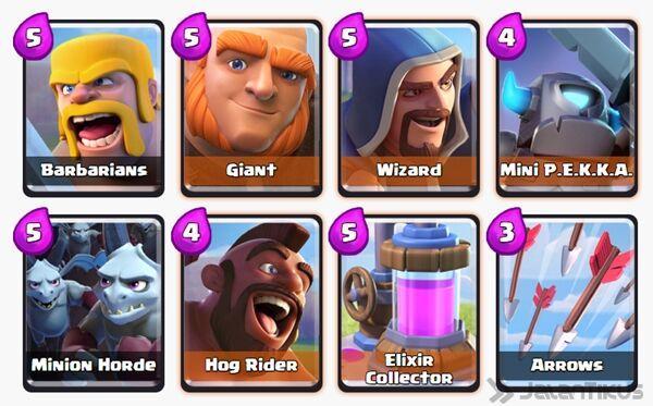 Battle Deck Giant Clash Royale 27