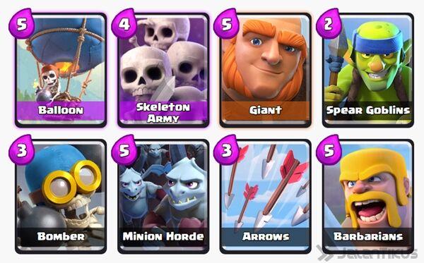 Battle Deck Giant Clash Royale 28