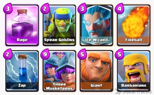 Battle Deck Giant Clash Royale 30