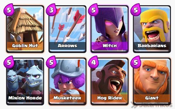 Battle Deck Giant Clash Royale 7
