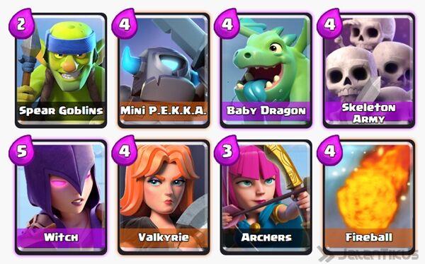 Battle Deck Mini Pekka Clash Royale 13