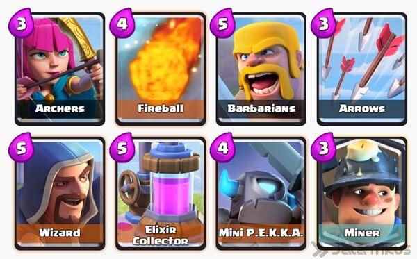 Battle Deck Mini Pekka Clash Royale 14