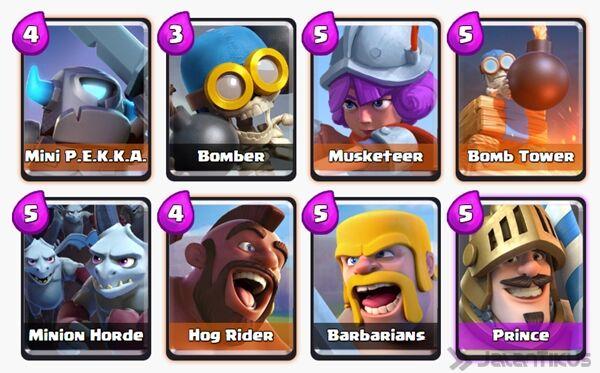 Battle Deck Mini Pekka Clash Royale 28