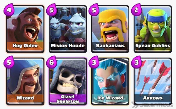 Battle Deck Ice Wizard Clash Royale 12