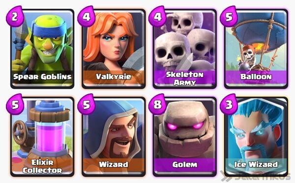 Battle Deck Ice Wizard Clash Royale 14