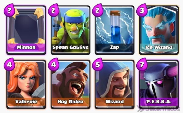 Battle Deck Ice Wizard Clash Royale 22