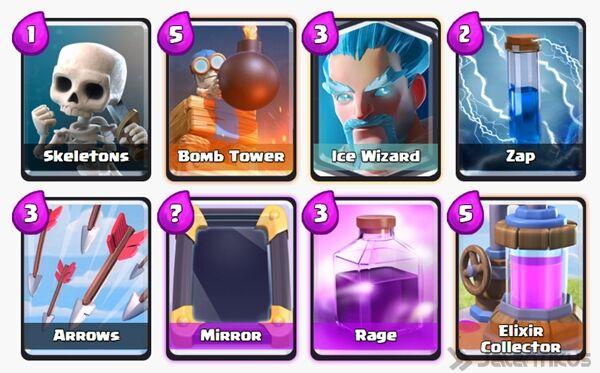 Battle Deck Ice Wizard Clash Royale 27