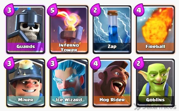 Battle Deck Ice Wizard Clash Royale 28