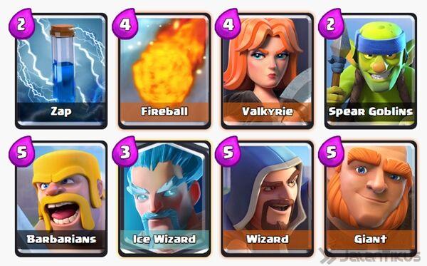 Battle Deck Ice Wizard Clash Royale 3