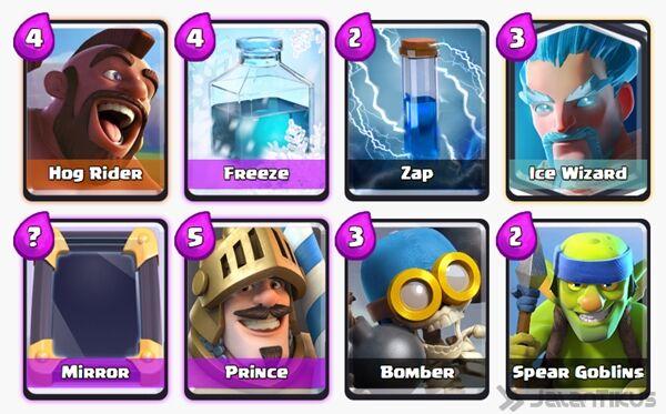 Battle Deck Ice Wizard Clash Royale 30