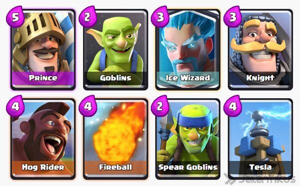 Battle Deck Ice Wizard Clash Royale 5