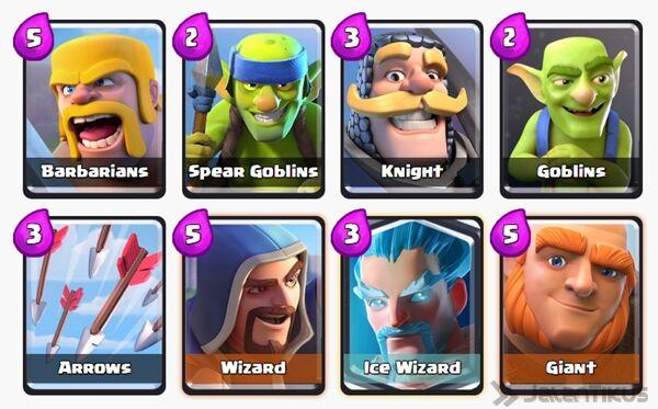 Battle Deck Ice Wizard Clash Royale 8