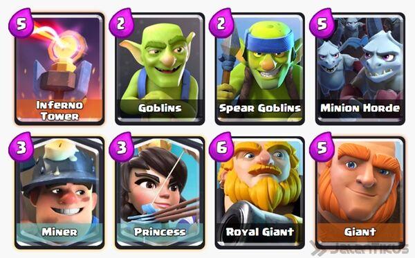 Battle Deck Princess Clash Royale 18
