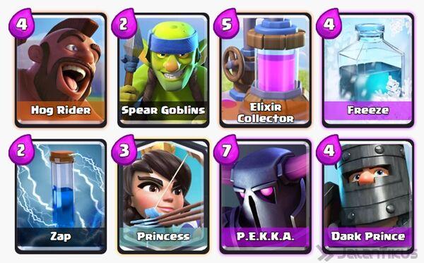 Battle Deck Princess Clash Royale 28