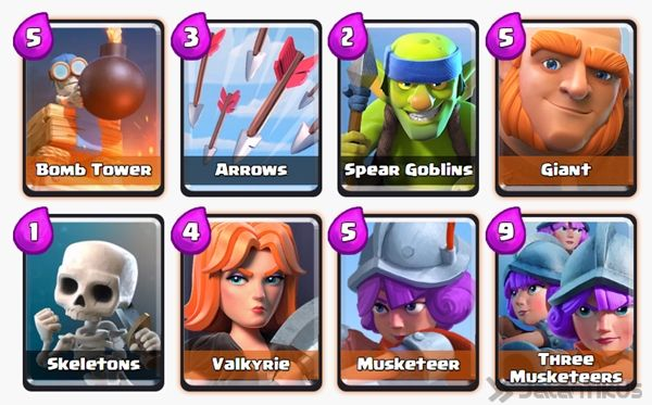 Battle Deck Musketeer Clash Royale 18