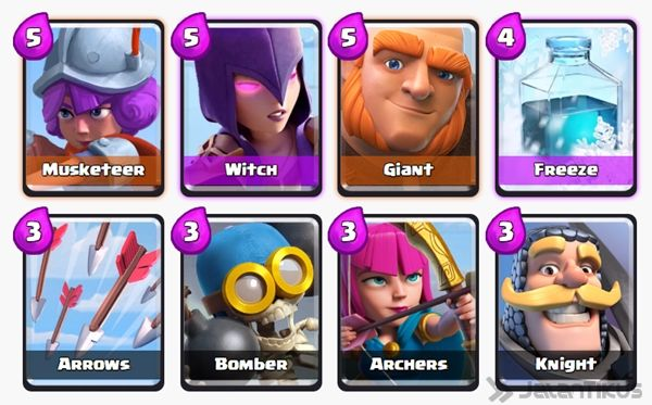 Battle Deck Musketeer Clash Royale 19