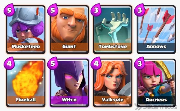Battle Deck Musketeer Clash Royale 2