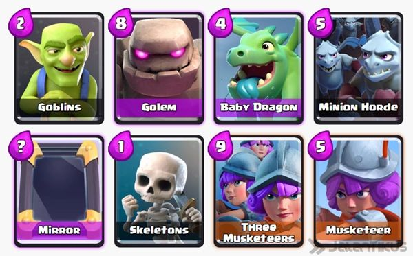Battle Deck Musketeer Clash Royale 21