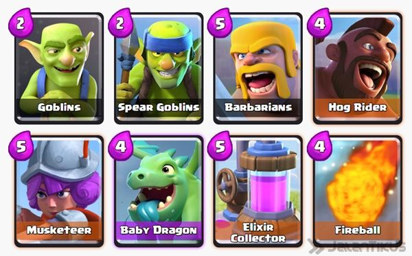 Battle Deck Musketeer Clash Royale 24