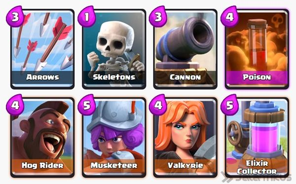 Battle Deck Musketeer Clash Royale 3