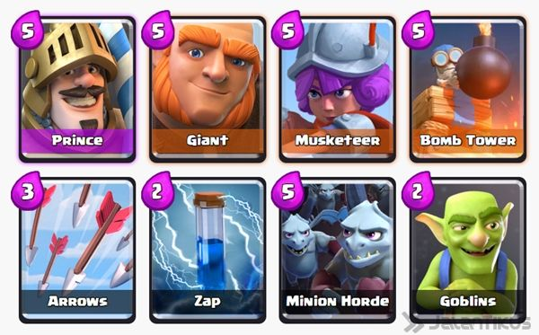 Battle Deck Musketeer Clash Royale 30