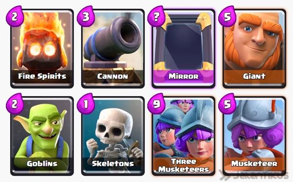 Battle Deck Musketeer Clash Royale 8