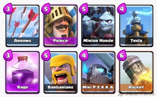 Battle Deck Prince Clash Royale 1