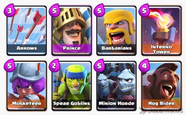 Battle Deck Prince Clash Royale 10