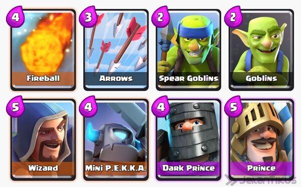 Battle Deck Prince Clash Royale 25