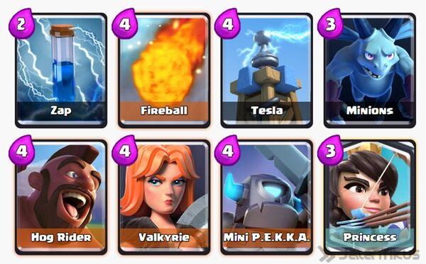 Battle Deck Valkyrie Clash Royale 14