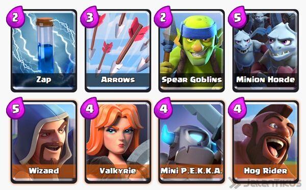 Battle Deck Valkyrie Clash Royale 22