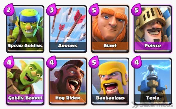 Battle Deck Goblin Barrel Clash Royale 1