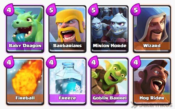 Battle Deck Goblin Barrel Clash Royale 10